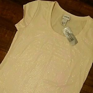 NWT Shimmer Chico's top